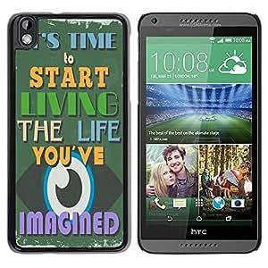 Dragon Case - FOR HTC DESIRE 816 - Practice makes perfect - Caja protectora de pl??stico duro de la cubierta Dise?¡Ào Slim Fit