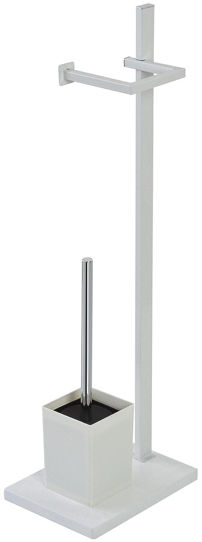 FERIDRAS 154038 lá mpara de pie Portarrollos y escobilla, Blanco, 18 x 24 x 73 cm 18x 24x 73cm Brand
