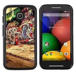 Caucho caso de Shell duro de la cubierta de accesorios de protección BY RAYDREAMMM - Motorola Moto E - Graffiti Street Art Paint Artist City