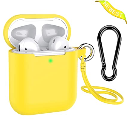 meet 1407e 4b5cc Airpods Case, Music tracker Protective Thicken Airpods Cover Soft Silicone  Chargeable Headphone Case with Anti-Lost Carabiner for Apple Airpods 1&2 ...