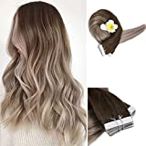 Full Shine 18 inch Human Hair Extensions of Glue in Hair Extensions Real Hair Ombre Balayage Hair Color 4 Fading to 18 50g 20Pcs Per Package For Sale