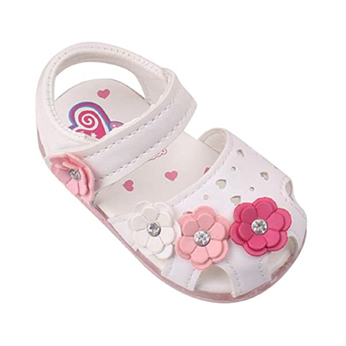 Zapatos de ️️Lonshell ❤️Sandalias de Flores Luces para Niñas Bebés de Princesa Sandalias Antideslizantes Zapatillas de Verano: Amazon.es: Ropa y ...