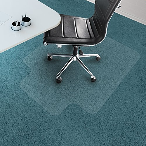 Office Marshal Chair Mat with Lip for Carpet Floors, PVC, Low/Medium Pile - 36