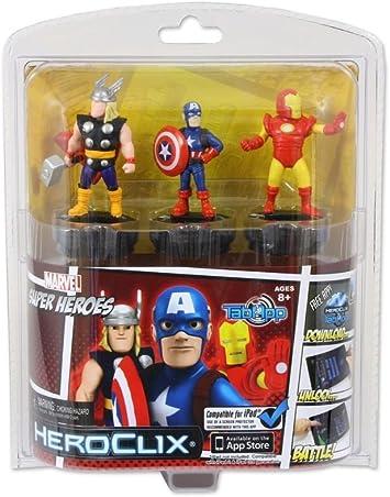 Superhéroes Marvel HeroClix TabApp 3-pack: Amazon.es: Juguetes y ...
