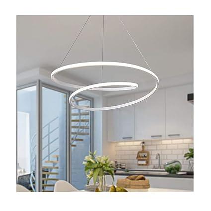 DUOMING Lámpara LED Colgante para Sala de Estar y Comedor ...