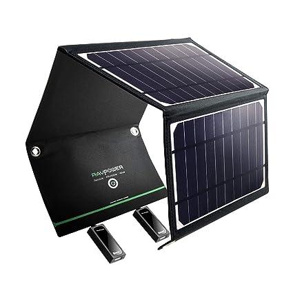 Amazon.com: Cargador solar RAVPower de 16W, panel ...