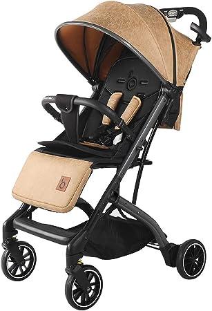 Opinión sobre Cochecito de viaje para dormitorio, cochecito plegable simple, cesta para dormir extendida, tabla hueca transpirable para proteger la columna vertebral del bebé, cochecito todoterreno con amortiguac