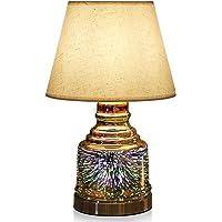 Porseme Handmade 3D Effect Glass Base Desk Lamp with Bulb Included