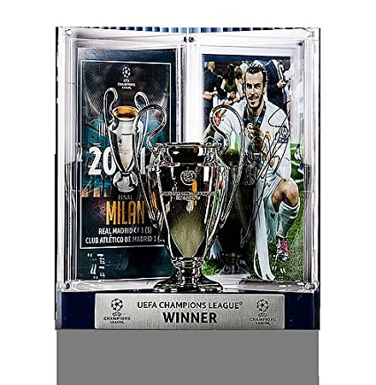599918207 Image Unavailable. Image not available for. Color  Gareth Bale Official  UEFA Champions League Autographed Signed Real Madrid 3D Mini Replica ...