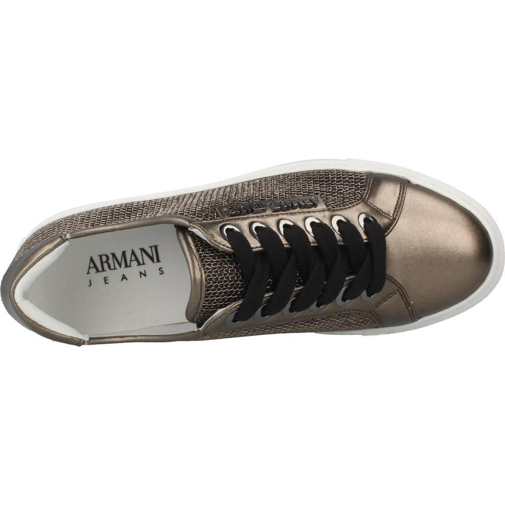 Armani Jeans Metallic Mesh Lace Up Up Up Damen Turnschuhe Metallisch 66b368