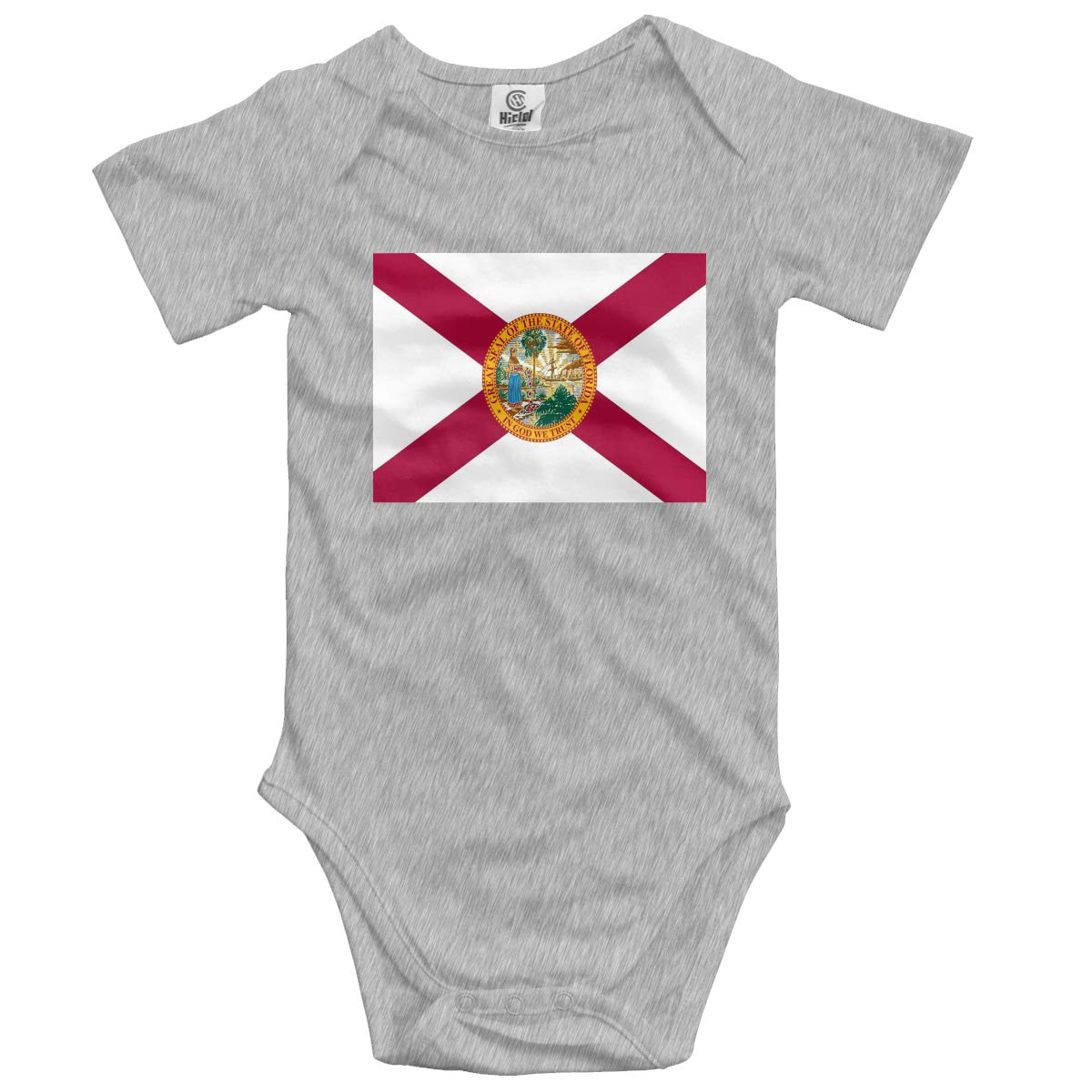 CUTEDWARF Baby Short-Sleeve Onesies Florida Flag Bodysuit Baby Outfits