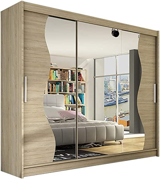 Alter GM Notsa S - Armario con Espejo (Puertas correderas, Puerta corredera, 250 cm): Amazon.es: Juguetes y juegos