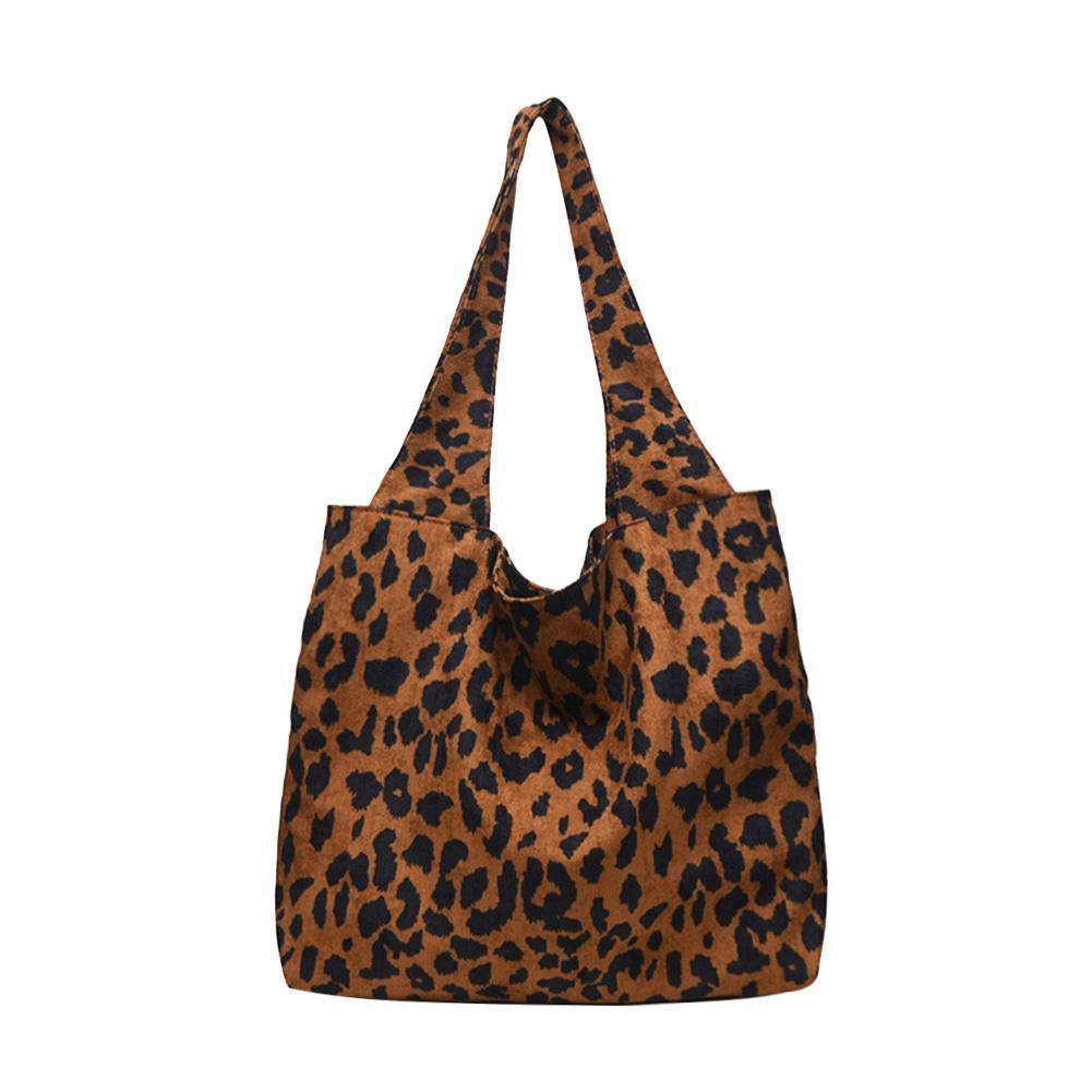 AFFEco Women Fashion Leopard Print Top-handle Handbag Tote Shoulder Bag