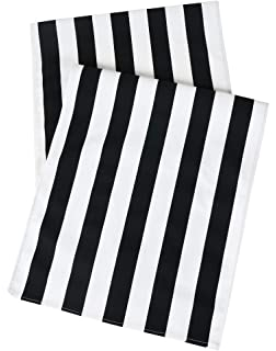 Table Runners Black And White Party Wedding Table Covers Striped Table  Runner 72 Inch X 15