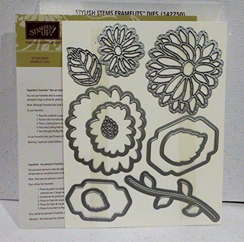 Stampin Up STYLISH STEMS Framelits Dies NEW FLowers leaves floral (Stylish Stems)