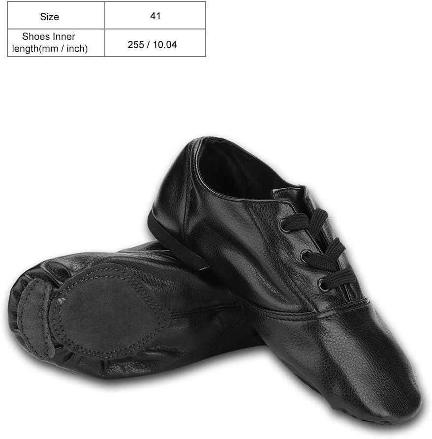 Naroote Jazz Dance Shoes PU Dancewear for Women Kids Yoga Ballet Ballroom Black 32