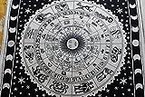 "Handicrunch Wall Hanging Bizarre Zodiac Sign Indian Tapestry 80""x 55"", Astrol..."