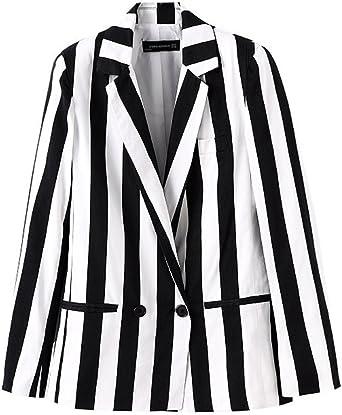 Amazon Com Beetlejuice Costume Women Black And White Striped Leisure Blazers Jacket Clothing