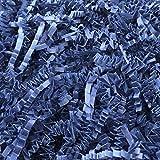 Black Cat Avenue 1 LB Navy Crinkle Cut Paper Shred Filler For Gift Wrap and Basket Filler