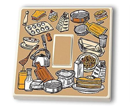 Baking Kitchen Light Switch Vinyl Sticker - Cook and Bake