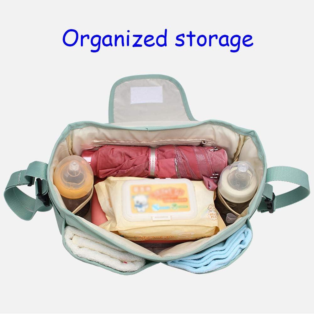 Mr.LQ Kinderwagen Aufbewahrungstasche Buggy Organizer Bag Mumienbeutel Buggy Zubeh/ör mit Getr/änkehalter