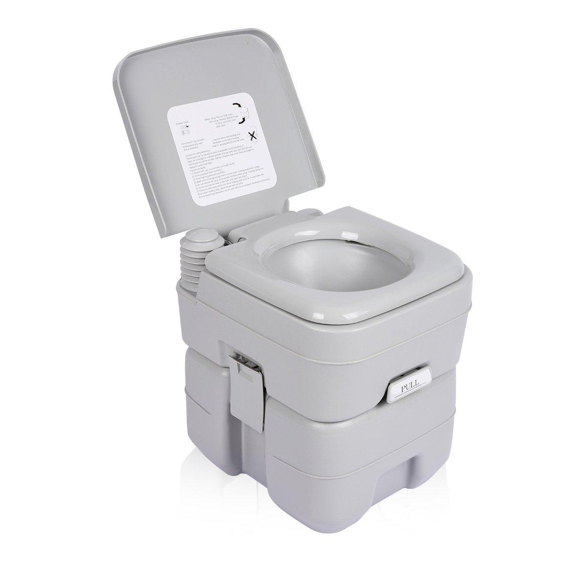 Amazon.com: Excelvan 5.3 Gallon 20L Flush Portable Potti Outdoor ...
