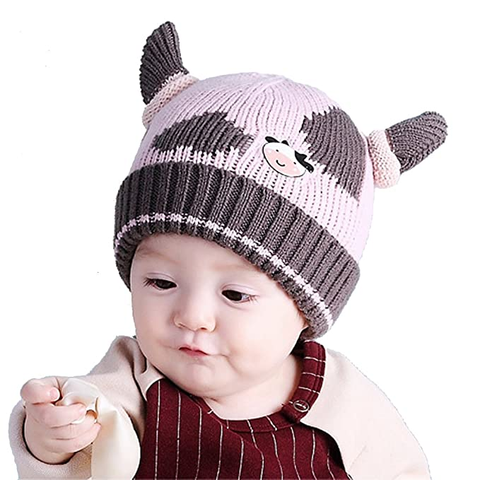 7933fae17ba Amazon.com  Baby Girls Boys Winter Hat Scarf Earflap Hood Scarves ...