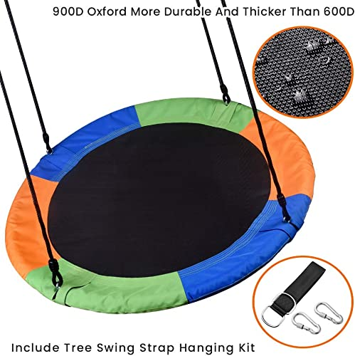 WONDERVIEW Tree Swing, Outdoor Swing with Hanging Strap Kit, 40 Inch Diameter 600lb Weight Capacity, Great for Playground Swing, Backyard and Playroom