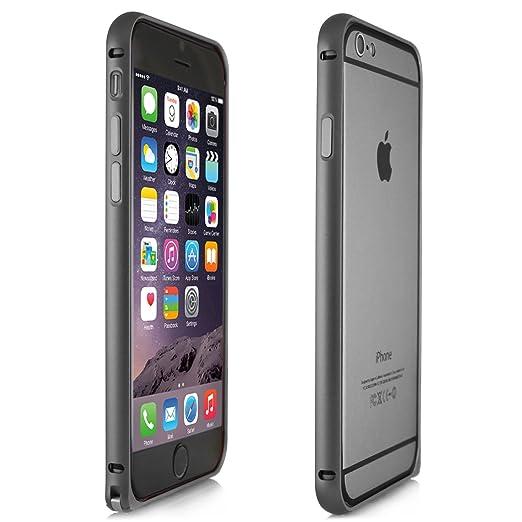 19 opinioni per Alienwork Custodia per iPhone 6 Ultra-sottile Cover Case Bumper Alluminio grigio