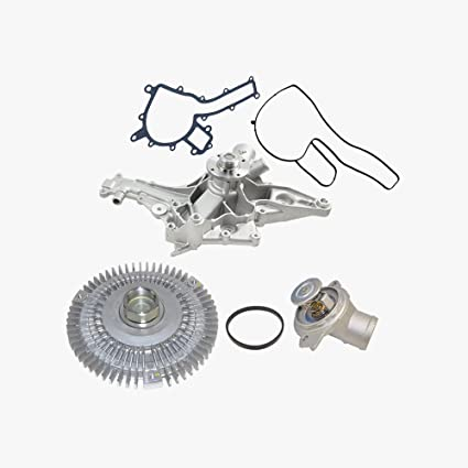 Water Pump Fan Clutch Thermostat Kit for Mercedes-Benz C43 AMG C55 AMG CL55 AMG