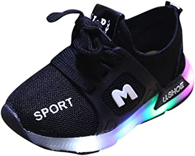 Zapatillas para Ni/ños Led Lights Zapatos De Beb/é Cuna Suela Blanda Antideslizante Zapatillas Ni/ño Vestir Casual Zapatillas De Deporte Zapatos De Beb/é Antideslizante