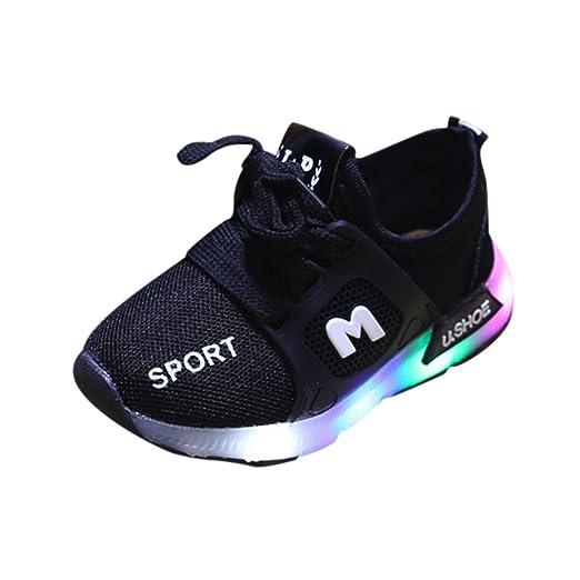 Zapatos Bebe Niño ZARLLE Zapatos Unisex Niños LED Luz Luminosas Flash Zapatos Zapatillas de Deporte Zapatos de Bebé Antideslizante Zapatillas: Amazon.es: ...