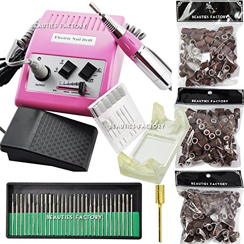 Beauties Factory Electric Nail File Drill Set Tested & Approved Heating Vibration Standard