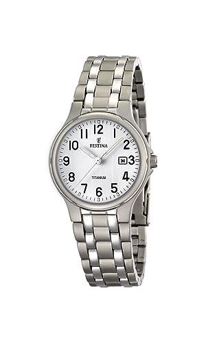 FESTINA F16461/1 - Reloj de Mujer de Cuarzo, Correa de Titanio: Amazon.es: Relojes