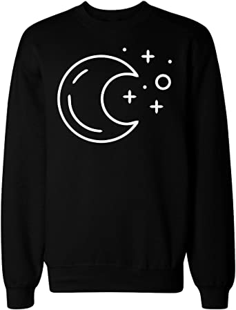 Simple Moon and Stars Composition Mens T-Shirt