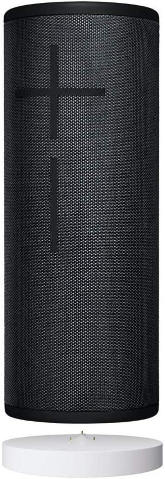 Ultimate Ears Megaboom 3 Altavoz Portátil Inalámbrico Bluetooth + Base de Carga Power Up, Graves Profundos, Impermeable, Flotante, Conexión Múltiple, Batería de 20 h, color Negro