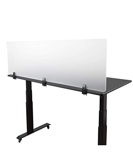 Office panels dividers Small Office Image Unavailable Amazoncom Amazoncom Desk Mounted Privacy Panel Frosted Desk Divider And