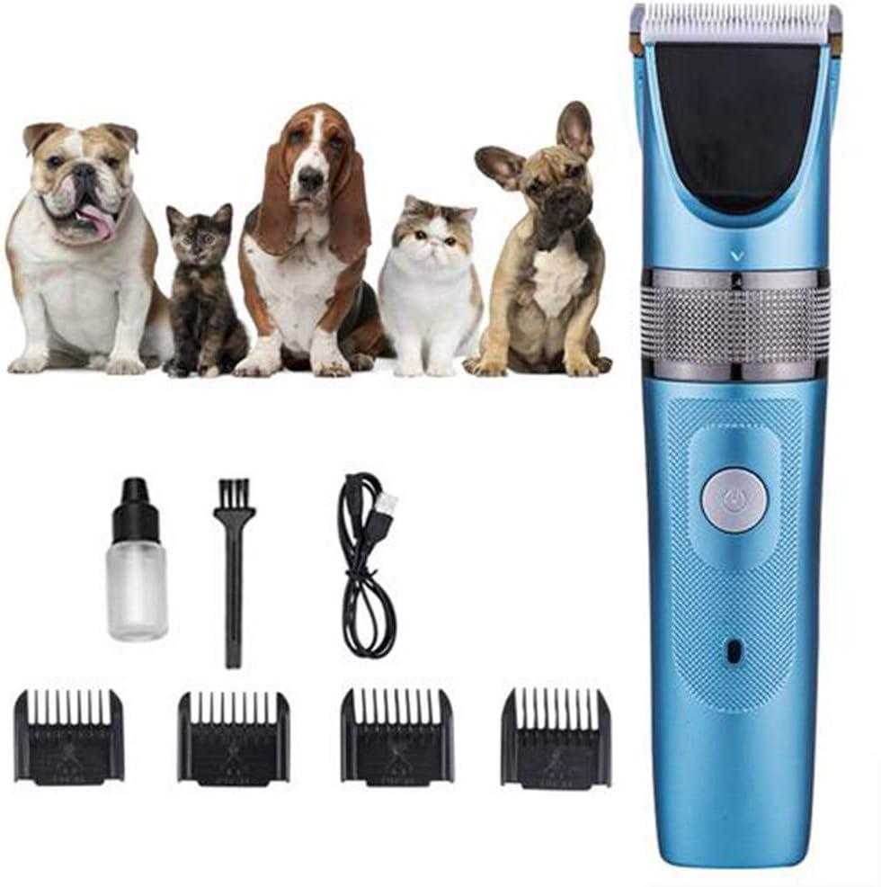 Uyuke Cortadoras de peluquería Canina, Juego de podadoras eléctricas para Mascotas Cortadora de Pelo de Gato eléctrica de bajo Ruido Máquina de Corte de Pelo para podadoras