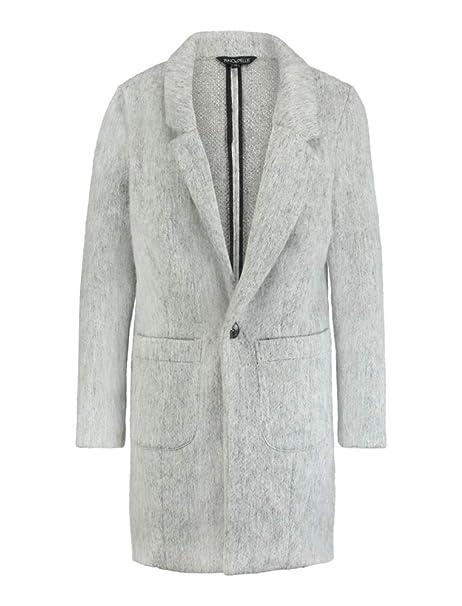 Rino Pelle Brenna Damen Woll Mantel Grau Größe 38 Amazonde