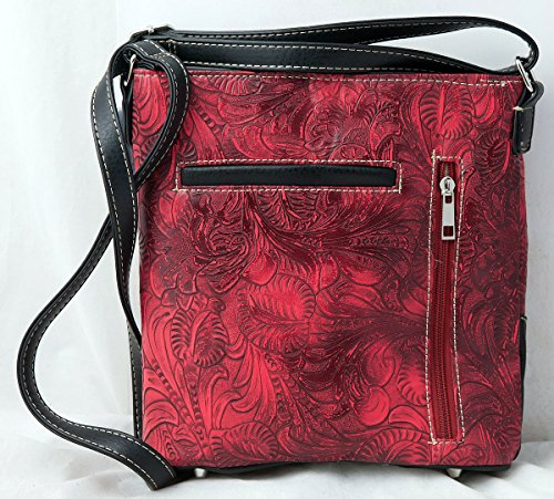 Cross Bag HW Crossbody Stitching Messenger with Carry Red Handbag Collection Western Concealed Wings 6EqPE8