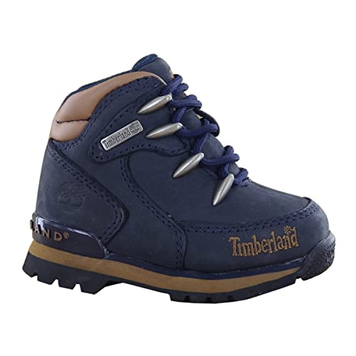 lace up in more photos 100% authentic Timberland Euro Rock Hiker Navy Toddler Boots Toddlers Size 3.5 UK ...