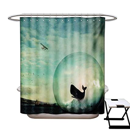 BlountDecor Whale Shower Curtains Hooks Environmental Image A In An Egg Near Oil