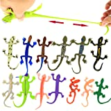 (8packminilizard) - Lizards Toys,8 Piece Mini Rubber Lizard Set,Food Grade Material TPR Super Stretchy,With Learning…