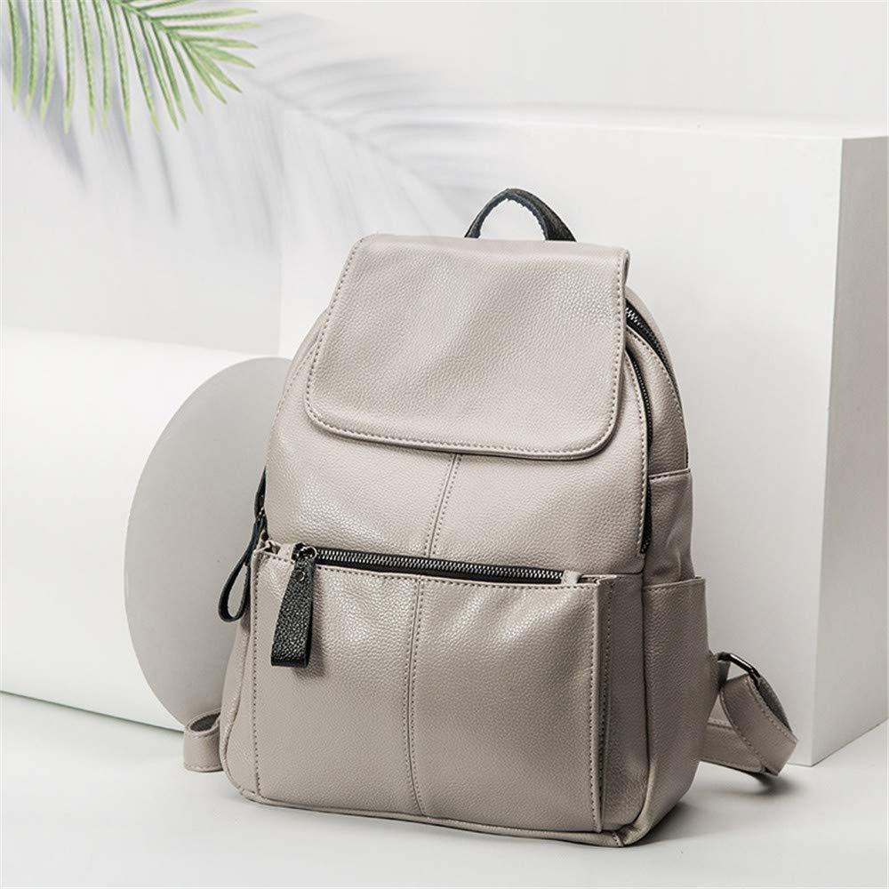 YuFLangel kvinnor ryggsäck handväska 30 cm dator ryggsäck mode skola ryggsäck laptop väska vattenavvisande för resor damer ryggsäck axelväskor (färg: vit) Vitt