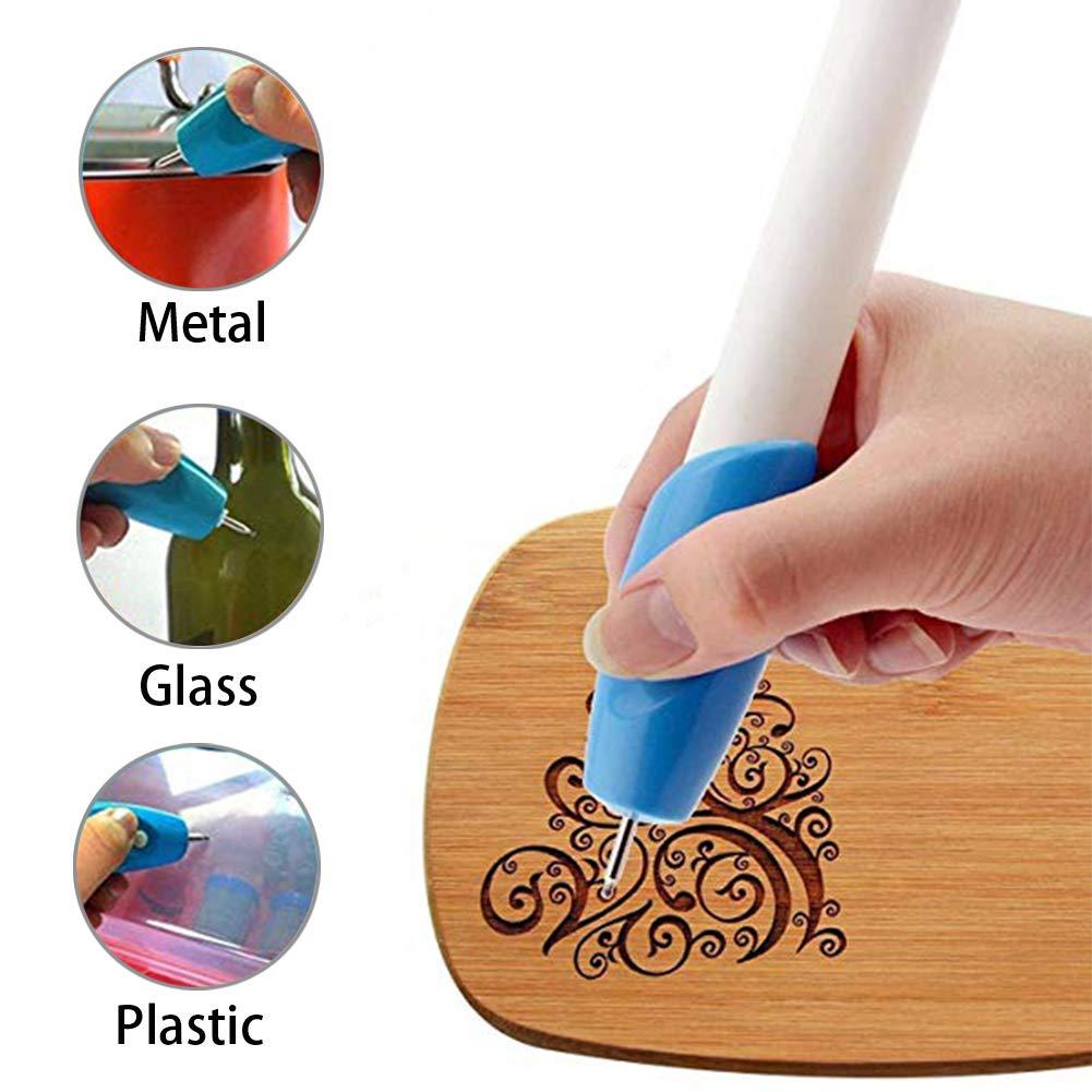 Mini Electric Engraving Machine, Cordless Engraving Pen, Handheld Carving Pen Etching Tool Easy to use for Polishing Jade Wood Grinding DIY Tool FarWarm