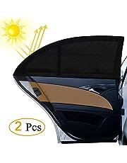 Parasol de Coche, otumixx 2 Unidades Visera para Ventana lateral de Coche Reduce Calor Aislado y la Radiación UVA para Niño Bebé Mascotas Fácil Instalación Compatible con la mayoría de Coches 126x52cm