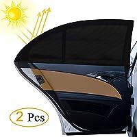 Tendina Parasole Auto , otumixx 2 Pezzi Tendine Parasole Auto Bambini per Finestrino Laterale con Protezione UV, Universale misura 126x52cm Parasole, Protegge Bambini e Animali Domestici - Nero