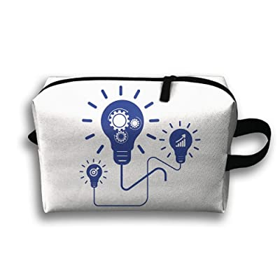 Creative Light Bulb Travel Bag Cosmetic Bags Brush Pouch Portable Makeup Bag Zipper Wallet Hangbag Pen Organizer Carry Case Wristlet Holder