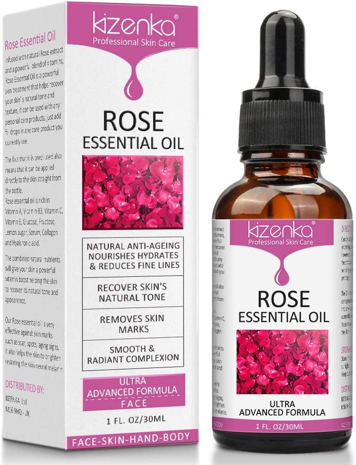 ¡Aceite esencial de rosa, cuidado de la piel con vitamina C, aclara las arrugas antienvejecimiento, perfecto para aromaterapia, relajación, terapia de la piel y más! - NATURAL…