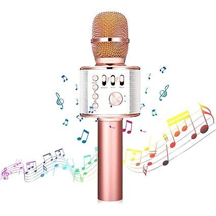 bluetooth Karaoke Mikrofon,NASUM,tragbar drahtlos dynamisch Mikrofon, 4.1 Lautsprecher für die Aufnahme von Sprach und Gesang